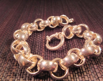 Cool Retro Sterling Silver Bracelet