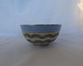 Summer Sale! Rare Vintage Turquoise Blue/ Bitossi Rimini Blue Aldo Londi Italian Art Porcelain Bowl