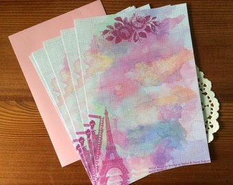 Vintage Paris Stationery Letter Paper