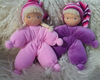 Waldorf doll, Hug doll, 10 in (25 cm), made by Kerstin of Sweden.