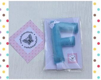 Hair bow holder, hair clip holder, hair accessories, initial F, holder