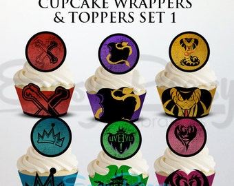 Descendants Cupcake Wrappers & Toppers