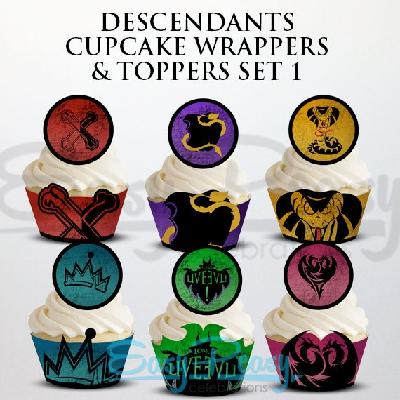 Descendants Cupcake Wrappers Amp Toppers
