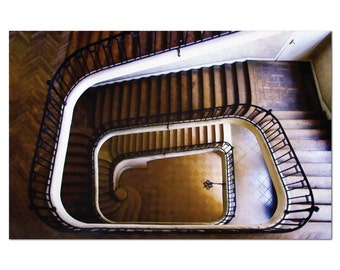 Winding staircase print from apartment in the castle - oil paint version - Unframed Print Poster Art Canvas
