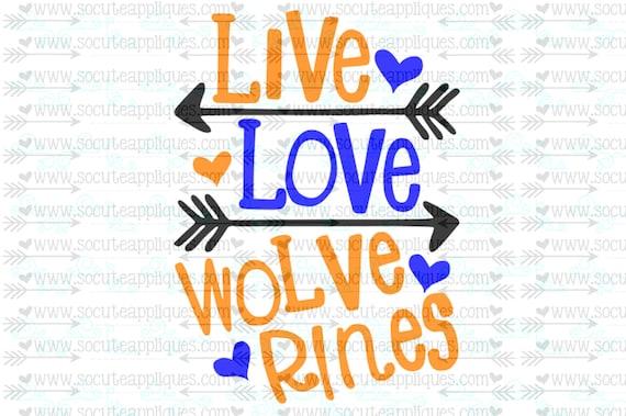 Svg Dxf Eps Cut File Live Love Wolverines Arrow Svg