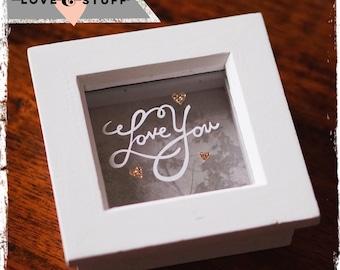 Love You - Mini Paper Cut - Valentines Gift