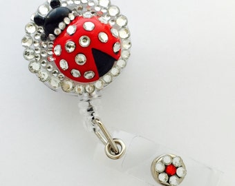Ladybug 3D Retractable Badge Reel / Name Badge / ID Badge Holder