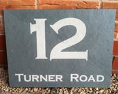 Modern Outdoor Contemporary Green Slate House Number House Number Sign House Address Sign House Plaque