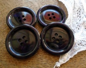 30mm Buttons, Large Buttons, Blue Buttons, Vintage Buttons, Navy Blue Buttons, Circle Button, Round Button, Button Supplies