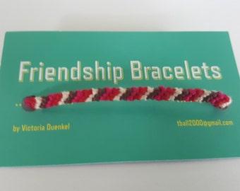 Diagonal friendship bracelet  (d7)