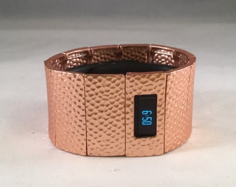 FitBit Charge HR Cover Bracelet and FitBit Charge Cover Bracelet: Hammersmith in Matte Rose Gold with a Window