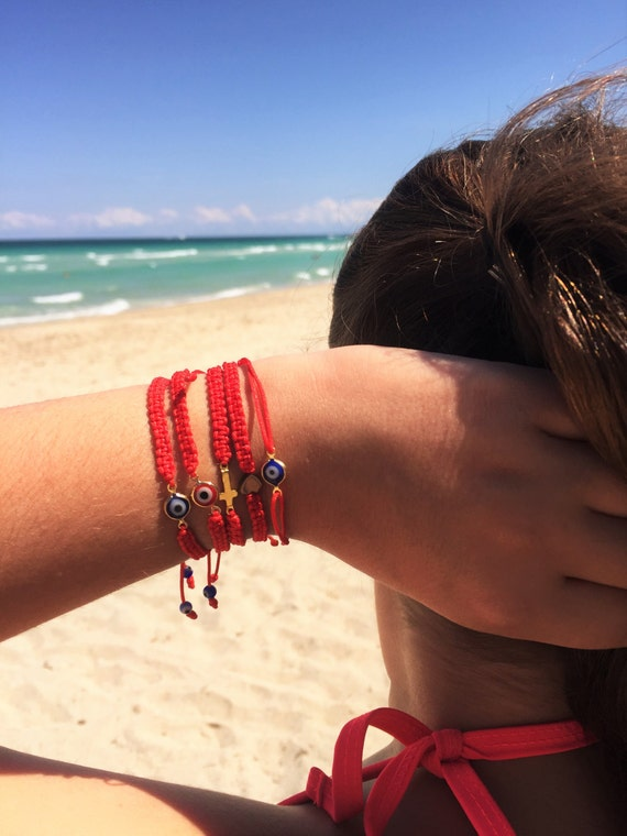 String Bracelets, Friendship Bracelets, Evil Eye Bracelet, Protection Bracelet, Red String Bracelet, Cross Bracelet, heart bracelet, macrame