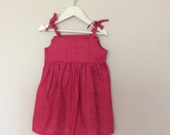 Size 2 & 5 Girls sun  dress - with shoulder ties