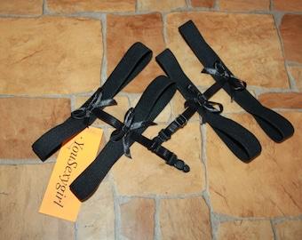 hip garter belt elastic leg bondage harness leg harness gothic lingerie Pair of handmade garters *IN STOCK*