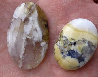Dentridenopal cabochons, lot no. 3, 73.85 carat