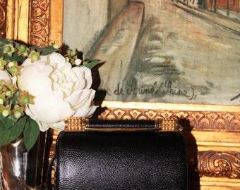 Elegant Black & Gold Rodo Cross Body Bag