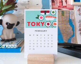 Wanderlust Calendar // 2017 Travel Desk Calendar