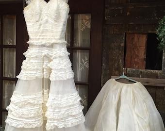 Vintage Wedding Dress circa 1950's