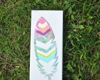 Mixed Media chevron feather. item #6