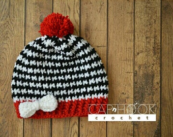 Pom Pom Hat With Bows