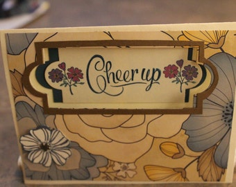 Handmade Flowery card will Cheer up anyone!