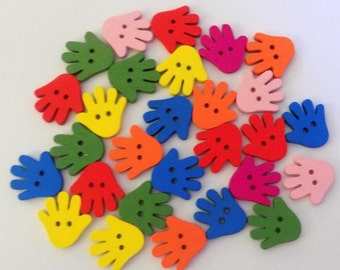14 Colourful Hands Buttons -  #SB- 00165