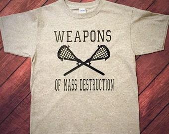 Lacrosse weapons of mass destruction tee!