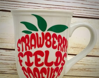 Beatles Strawberry Fields Forever inspired Mug
