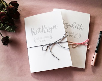 A5 Personalised Bridesmaid Notebook