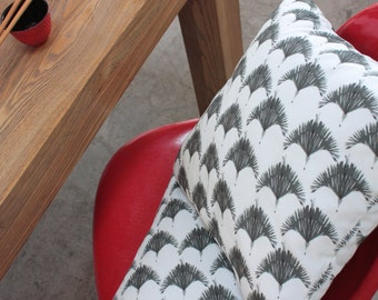 square cushion/décorative cushion/cushion cover/asian birds/french cushion/handmade/cushion handmade in France/interior cushion