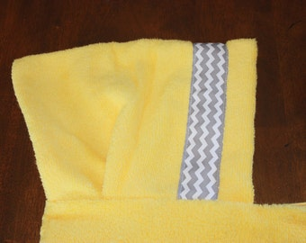 Chevron Hooded Towel - For babies, toddlers, preschoolers and beyond!