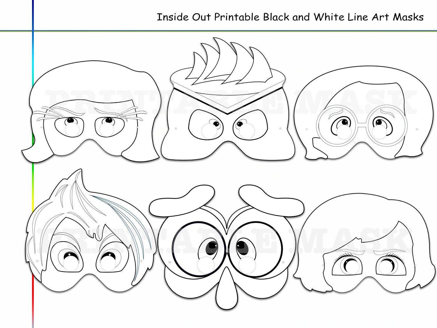 Inside Out Coloring Pages Pdf : Coloring pages inside out printable black and white line art