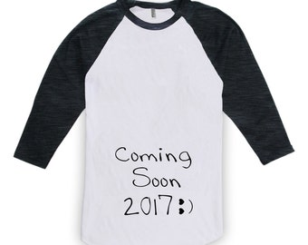 Pregnancy Shirt - Coming Soon 2017, New Baby in 2017, Pregnancy Announcement Shirt, New Baby 2017, Mothers Day, Christmas Gift  CT-156