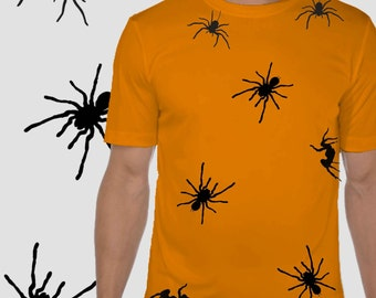 Halloween Tshirt-Vinyl Tshirt-Halloween costume-Spider Tshirt-Fancy dress-Scary Tshirt-Creepy halloween outfit-Short sleeved cotton Tee
