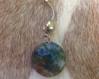 Indian Agate Belly Button Ring