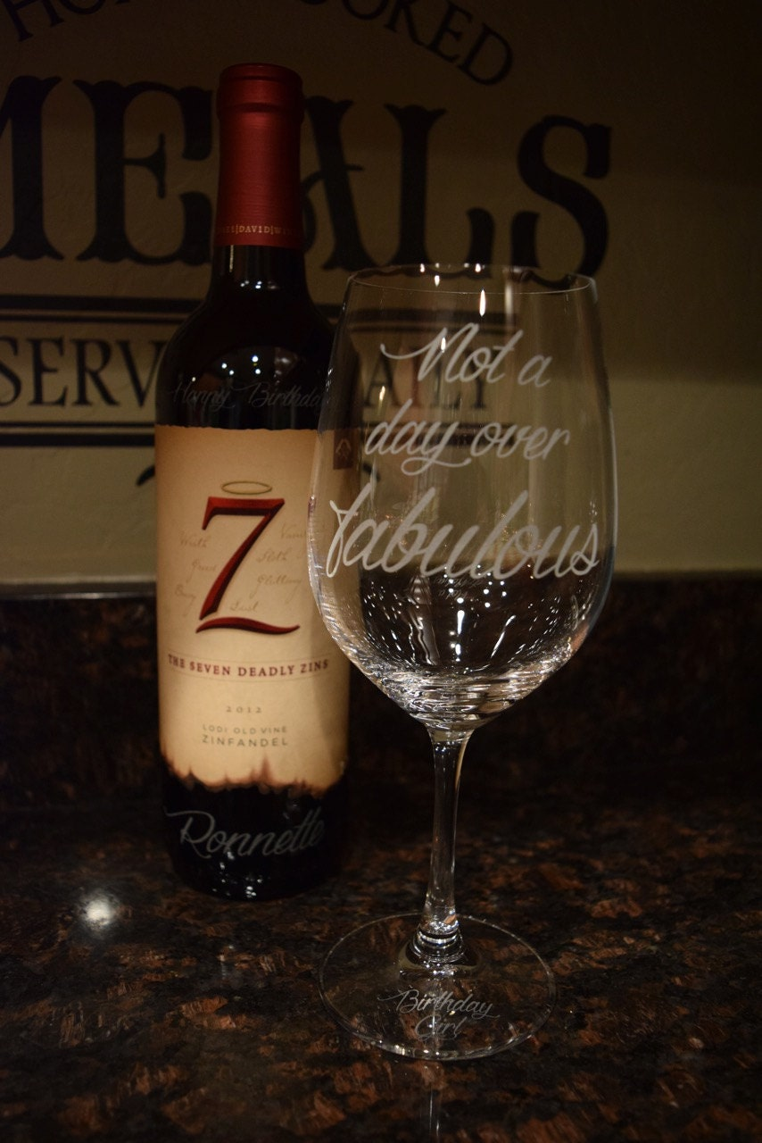 Custom Etched Wine Glasses Personalized Wine Glasses Gift