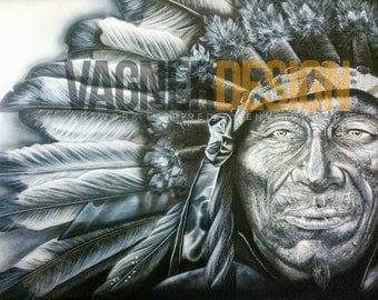 """A limited edition numbered print - """"THE CHIEF"""""""