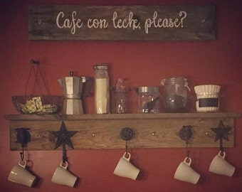 Cafe con leche, please?   Handpainted pallet wood sign. Coffee & accessories not included ;)