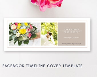 Facebook Cover Template for Photographers - Photo Marketing Templates - Facebook Timeline Design