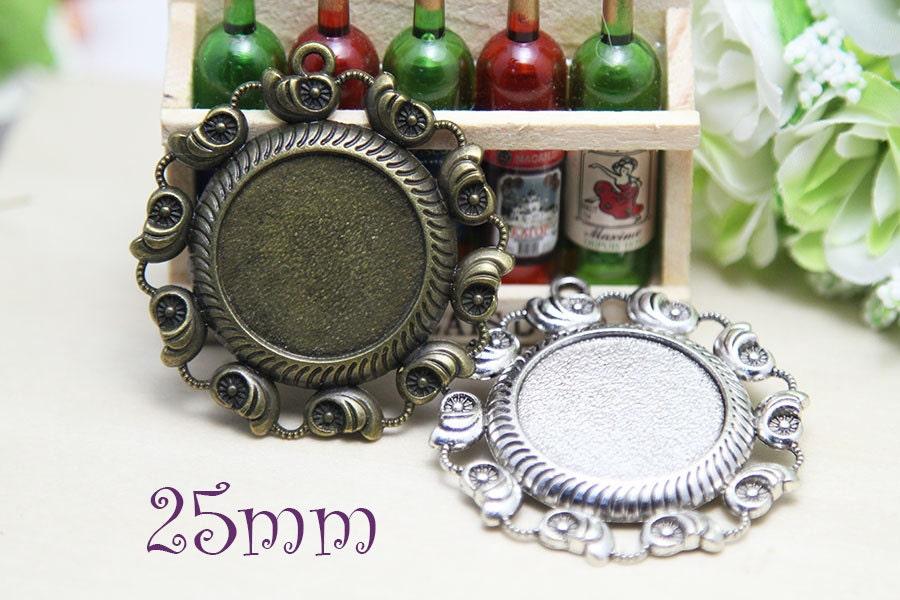 25mm pendant wholesale tray pendant blanks bezel tray
