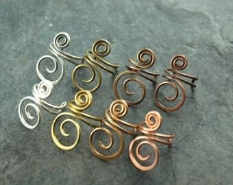 Ear clip, spiral