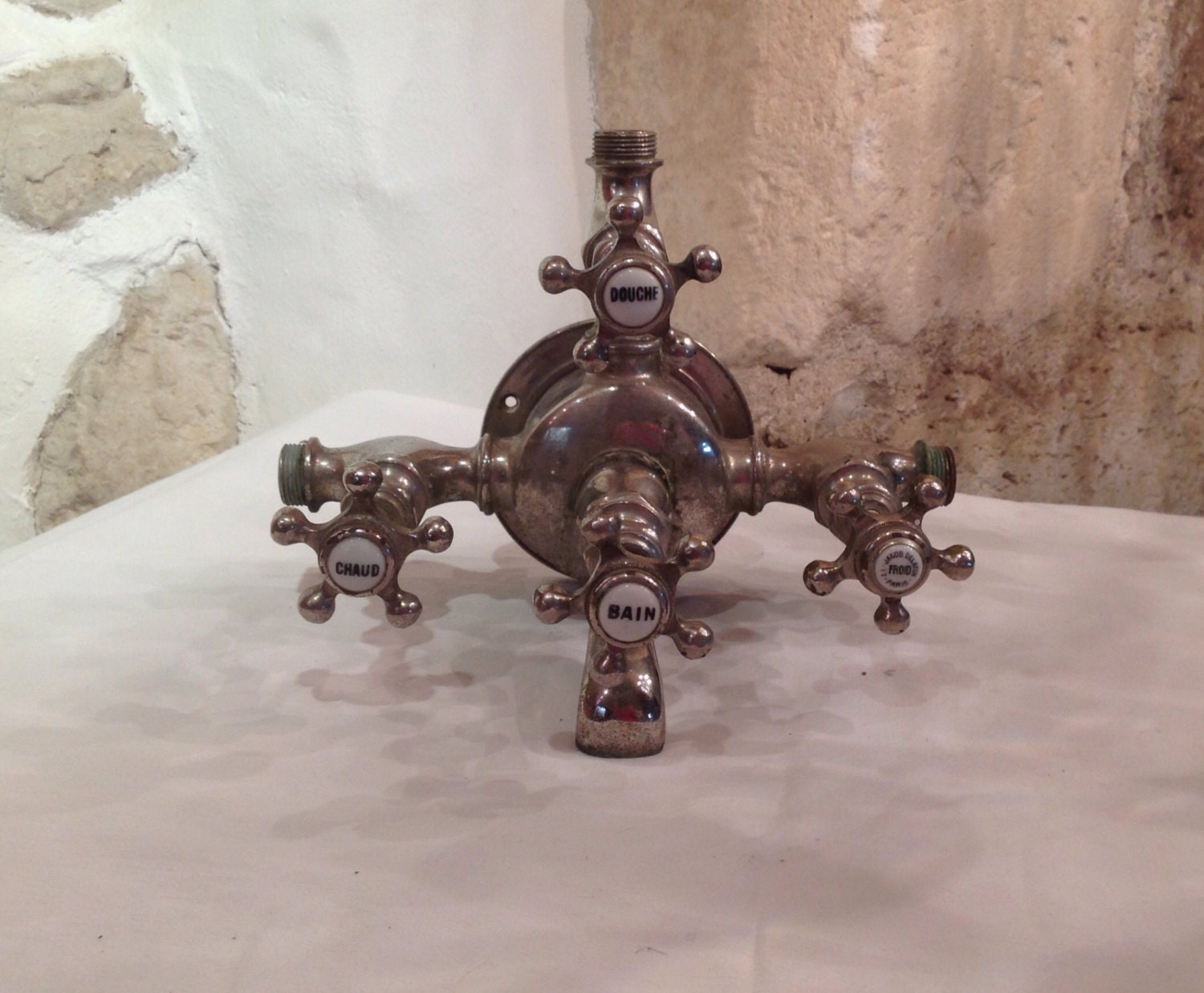 Stunning antique French Jacob Delafon bath shower mixer faucet ...