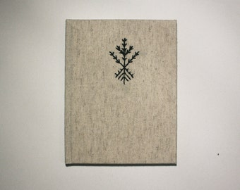 Emroidered Tree Notebook