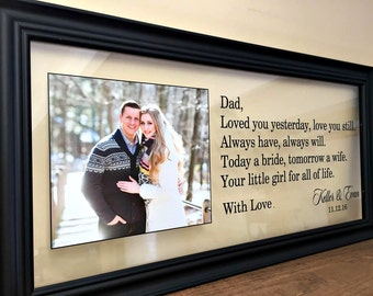 Father of the Bride Gift, Father of the Bride Frame, Wedding Gifts for Parents, Parents Gift Wedding, Mother of the Bride Gift