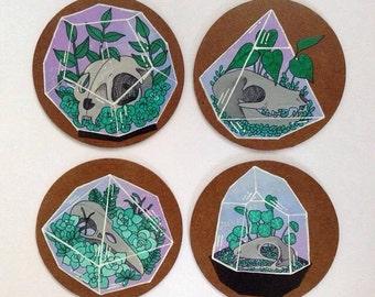 Set of 4 Terrarium Coasters
