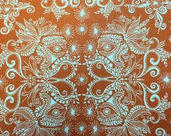 Robert Kaufman IN THE BLOOM (Mango) - 100% Premium Cotton Quilt Fabric - Per 1/2 yd