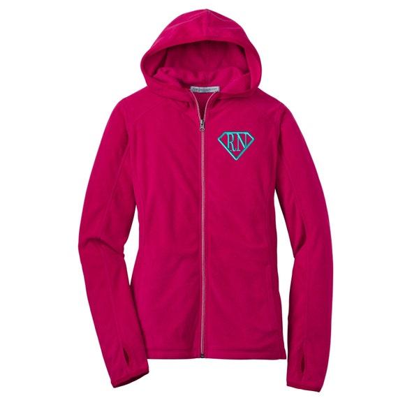 Rn Super Nurse Full Zip Micro Fleece Jacket By Whynotstopnshop