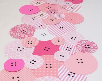 Cute as a Button Baby Shower Decorations - Button Baby Shower Table Runner - Cute as a Button Baby Shower -  Baby Shower Decorations