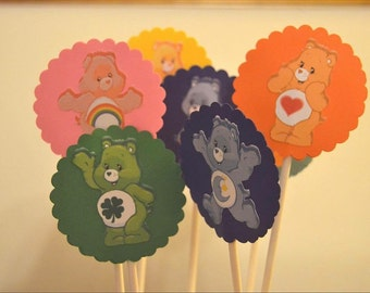 Care Bears Cupcake toppers 12 per order
