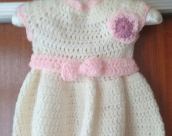 Baby/Toddler Girl handmade crochet dresses, cardigans, tops, hats, booties. Baby Blankets